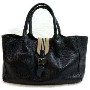 Auth Burberry London Tote Bag Black #2537B99
